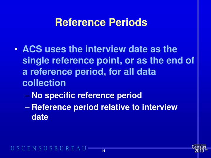 Reference Periods
