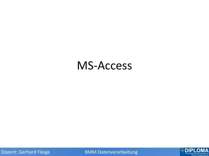 MS-Access