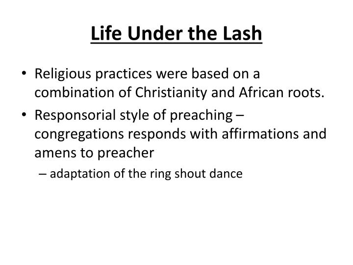Life Under the Lash
