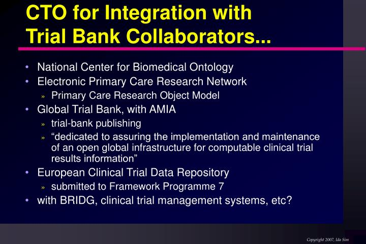 CTO for Integration with