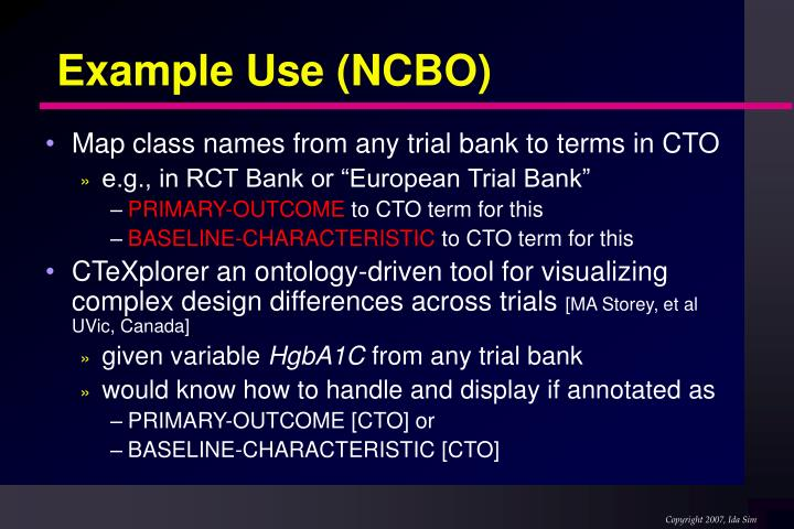 Example Use (NCBO)