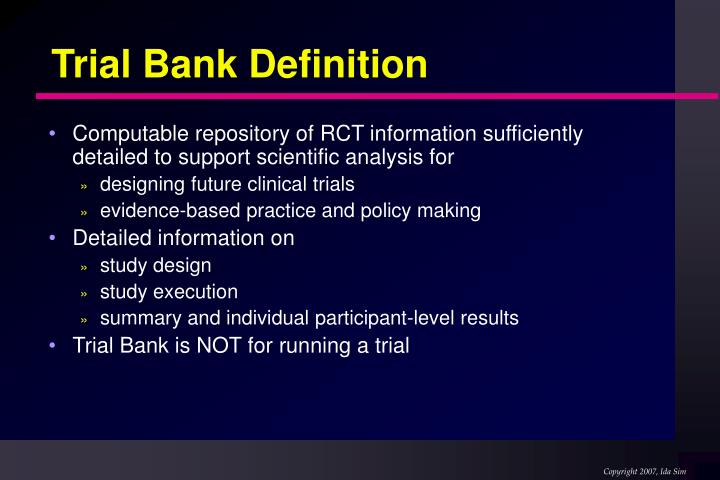 Trial Bank Definition