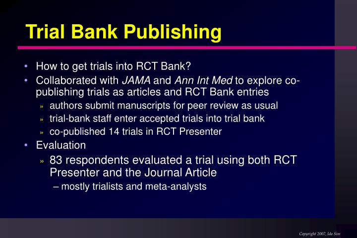Trial Bank Publishing