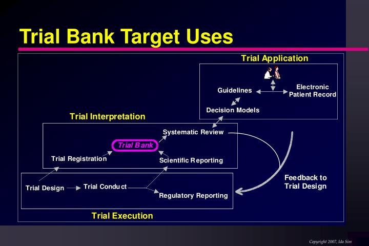 Trial Bank Target Uses