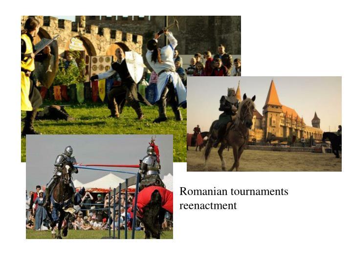 Romanian tournaments reenactment
