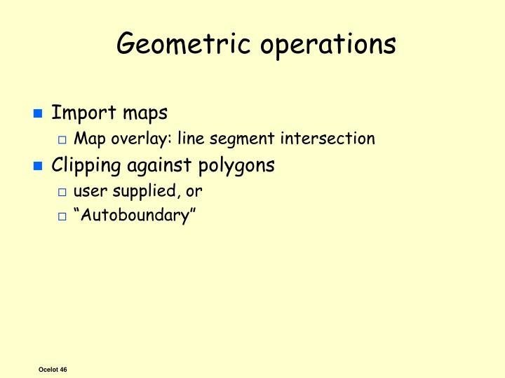 Geometric operations