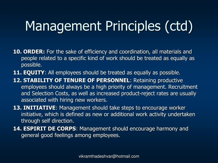 Management Principles (