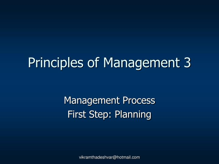 Principles of Management 3