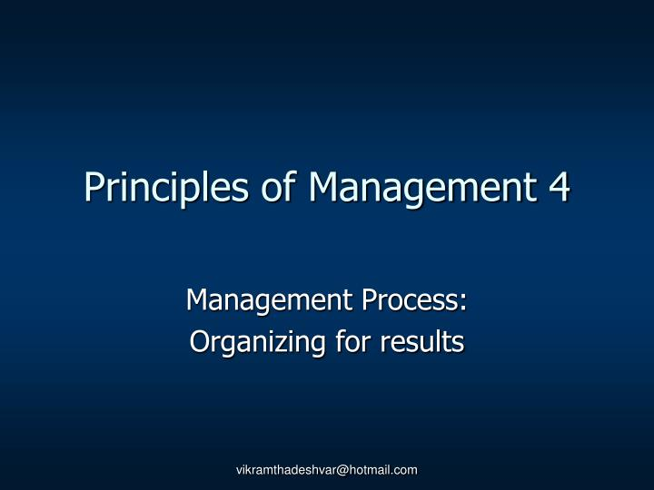 Principles of Management 4