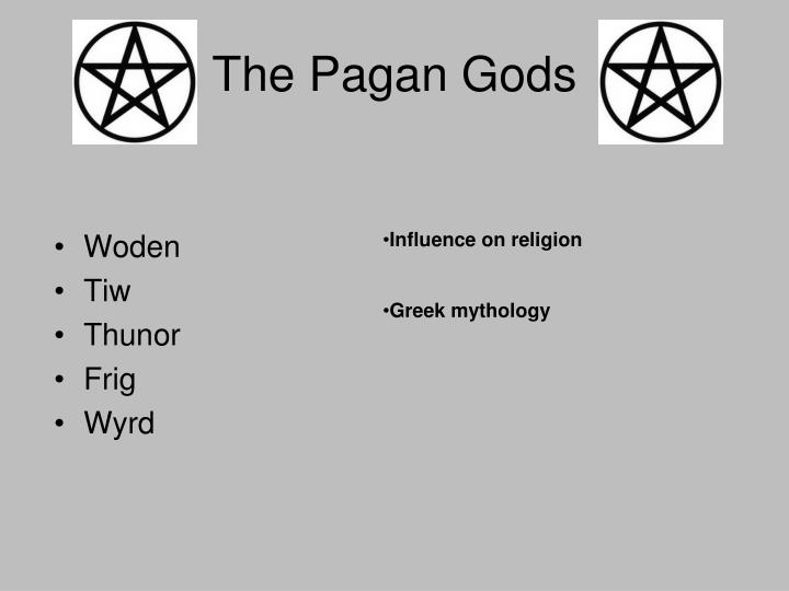 the gods of the anglo saxon woden thunor and tiw Between 600 and 700 ce, the anglo-saxon kingdoms had converted to christianity while it would take some time for the new religion to filter down from the royal courts to the commoners, anglo-saxon heathenry as a cultural religion was doomed.