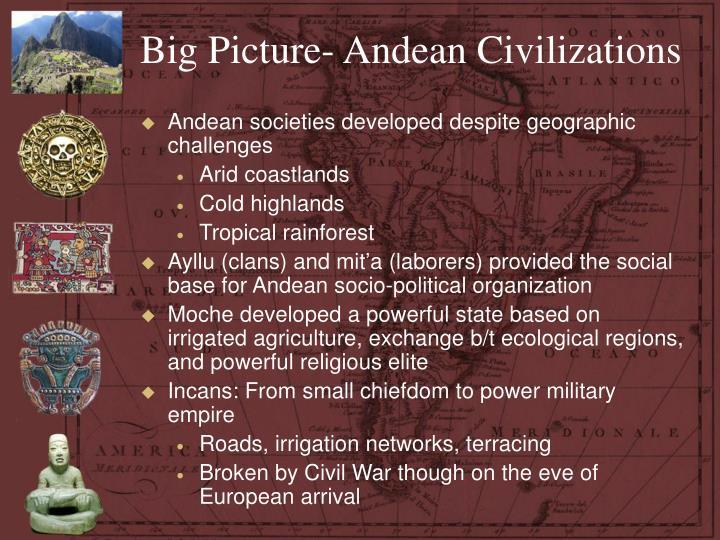 Big Picture- Andean Civilizations