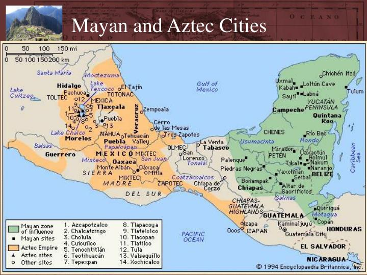 Mayan and Aztec Cities