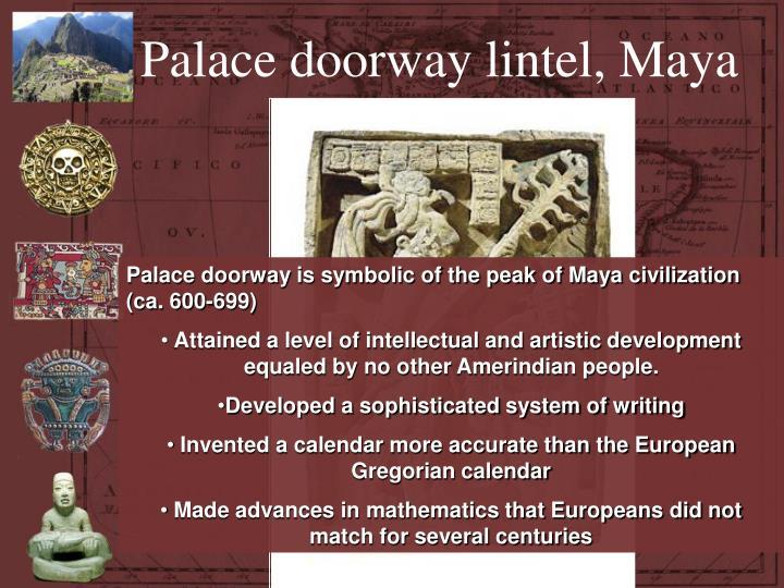 Palace doorway lintel, Maya