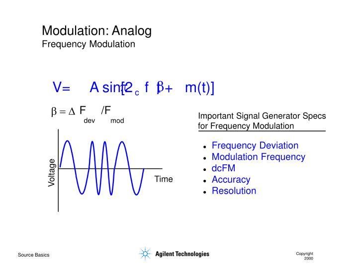 Modulation: Analog