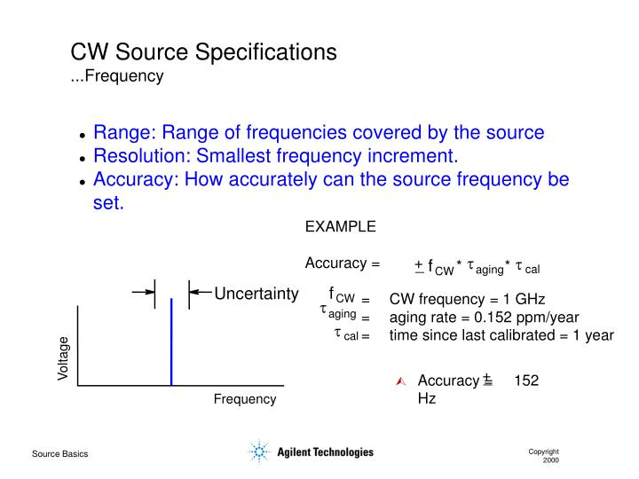 CW Source Specifications