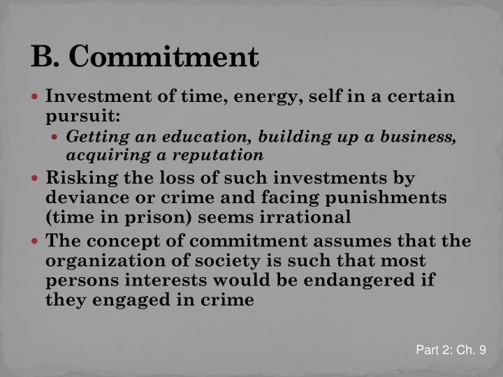 B. Commitment