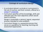 concept of curriculum design