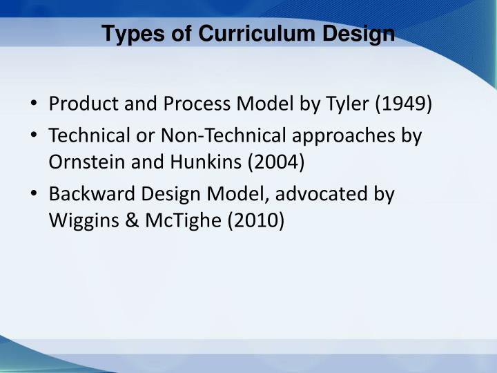 Types of Curriculum Design