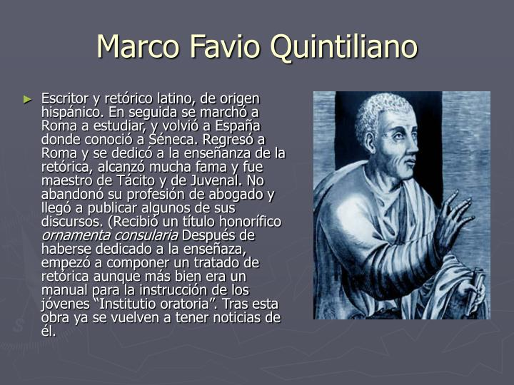 Marco Favio Quintiliano