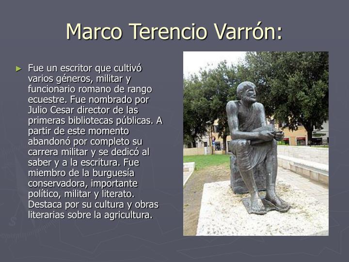 Marco Terencio Varrón: