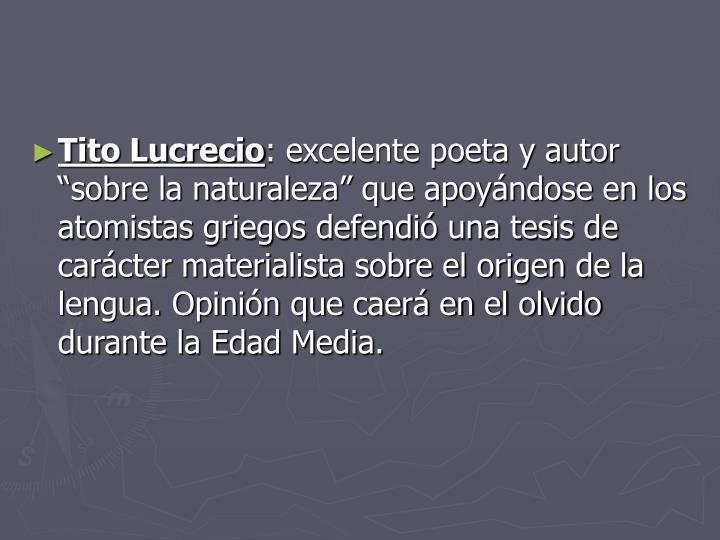 Tito Lucrecio