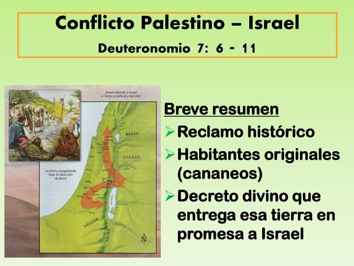 Conflicto Palestino – Israel