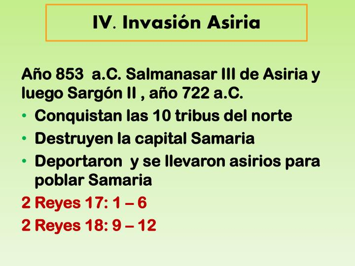 IV. Invasión Asiria