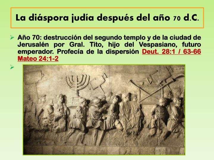 La diáspora judía después del año 70 d.C.