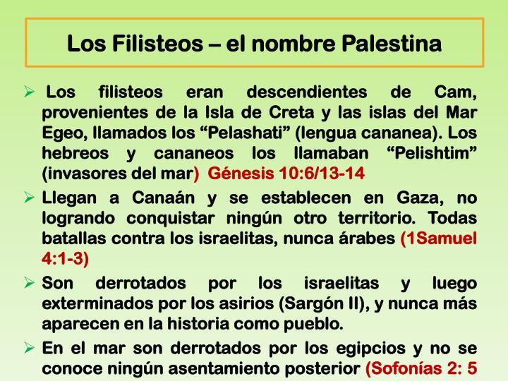 Los Filisteos – el nombre Palestina