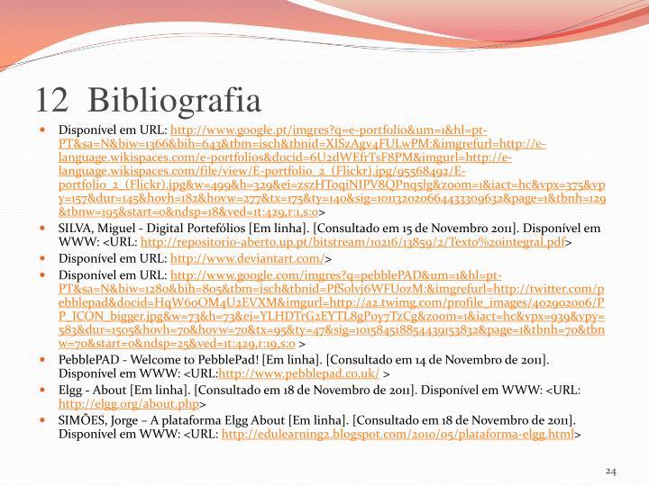 12  Bibliografia