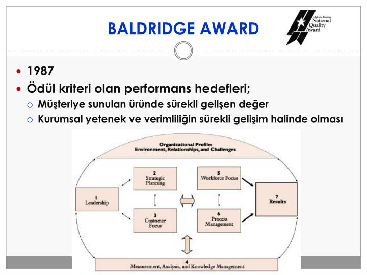 BALDRIDGE AWARD