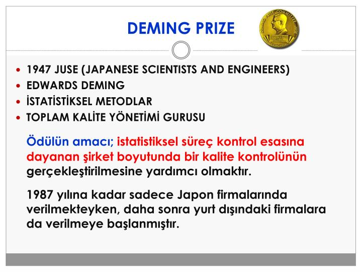 DEMING PRIZE