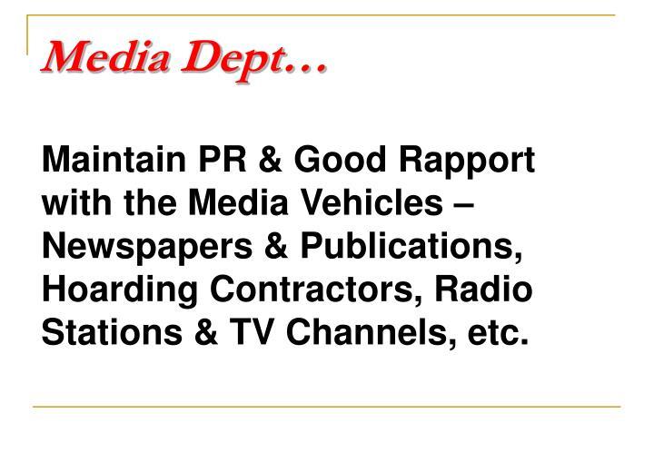 Media Dept…