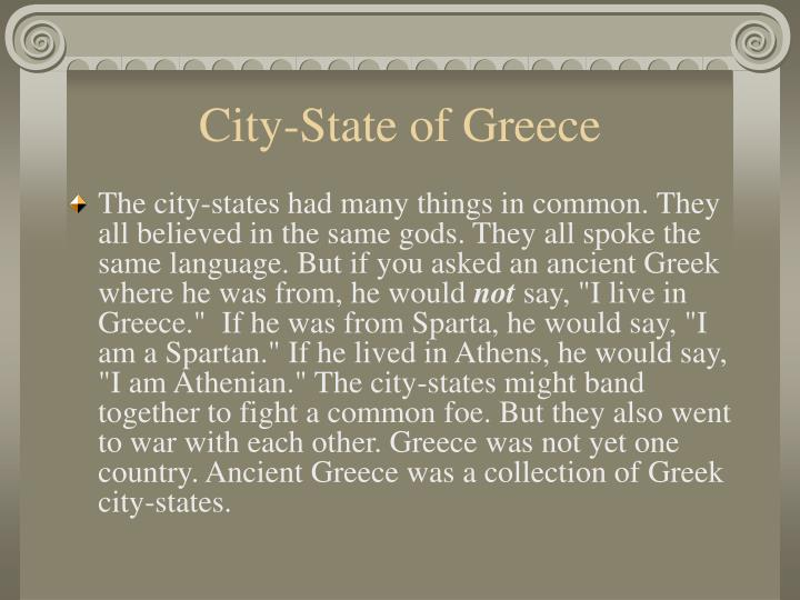 City-State of Greece