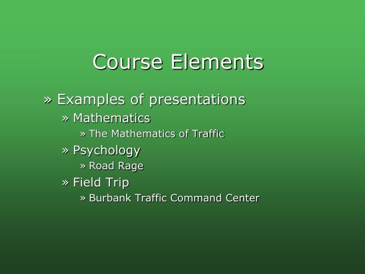 Course Elements