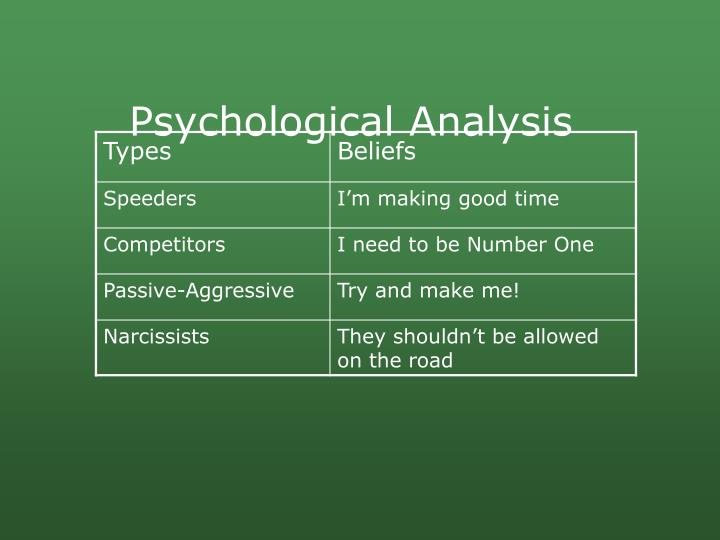Psychological Analysis