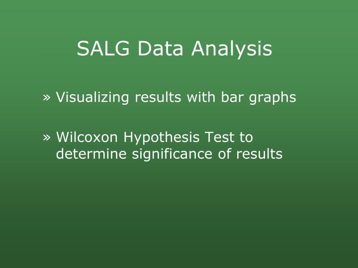 SALG Data Analysis
