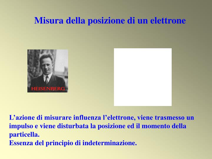 Misura della posizione di un elettrone