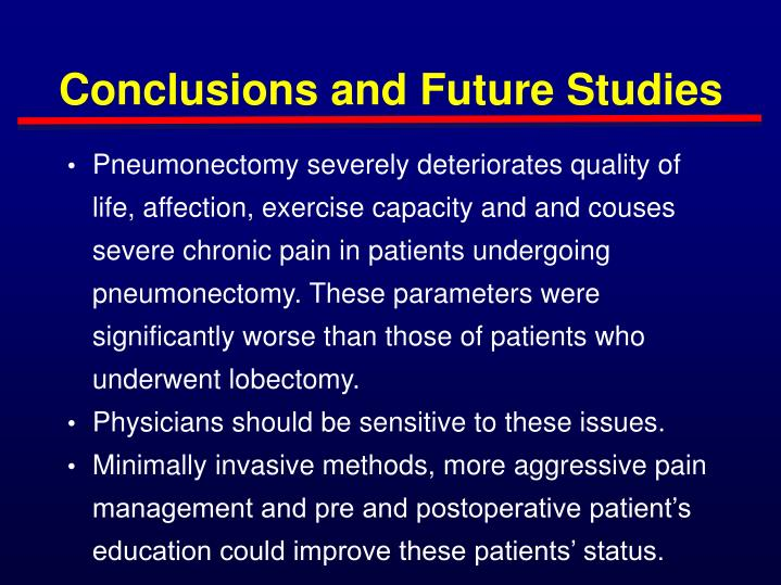 Conclusions and Future Studies
