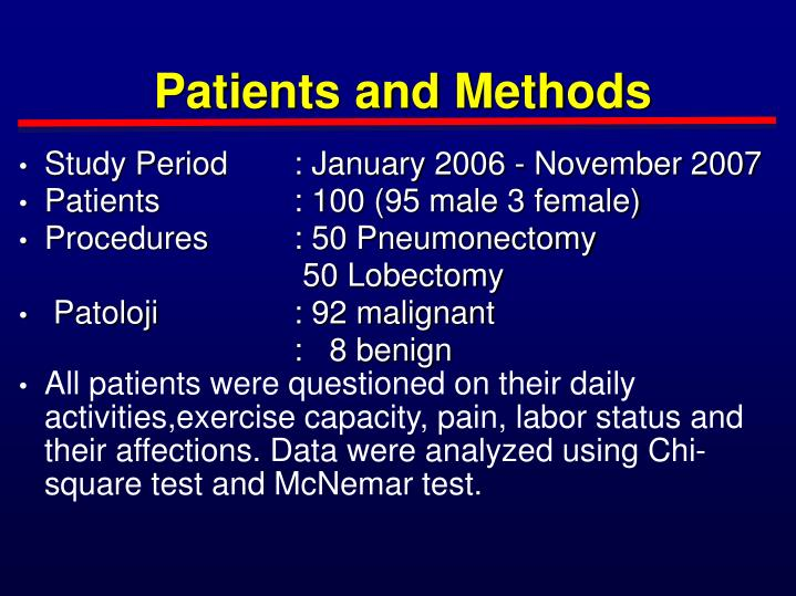 Patients and Methods