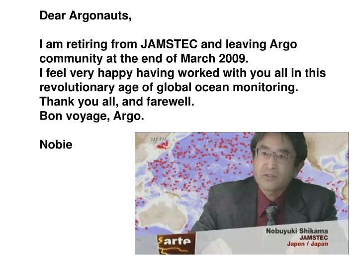 Dear Argonauts,