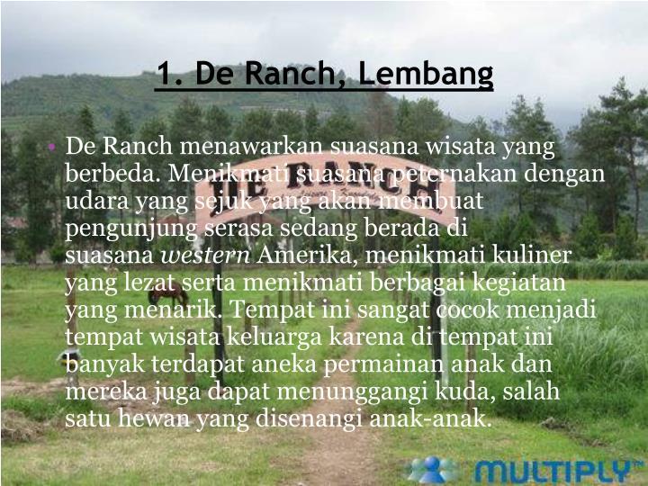 1. De Ranch,
