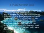 4 pulau karimun jawa