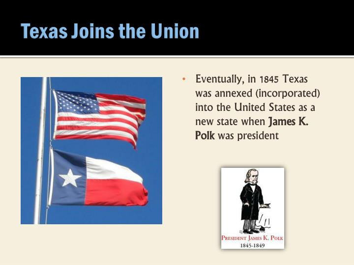Texas Joins the Union