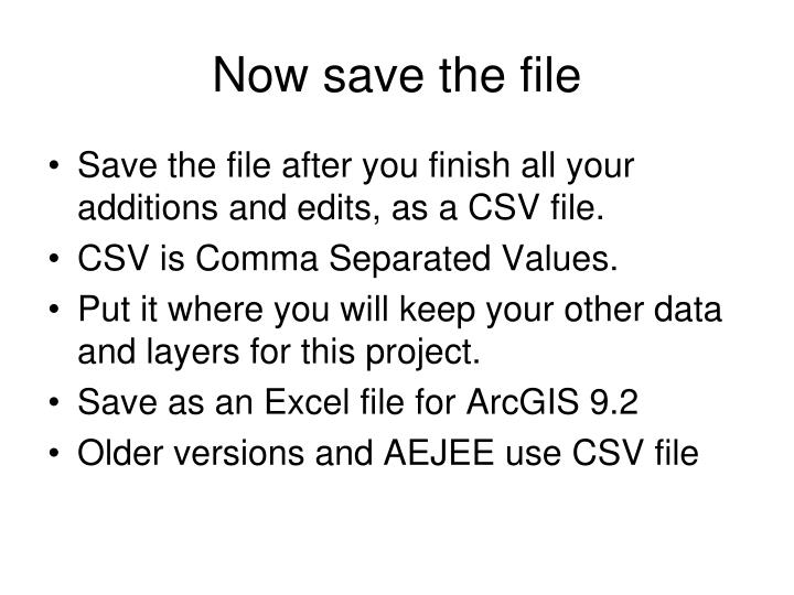 Now save the file
