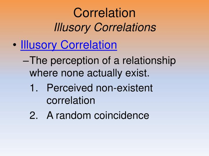 correlation illusory correlations