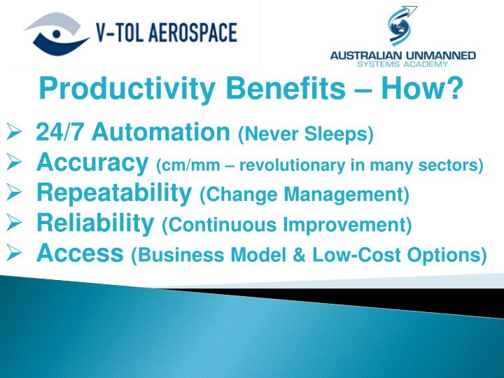 Productivity Benefits – How?
