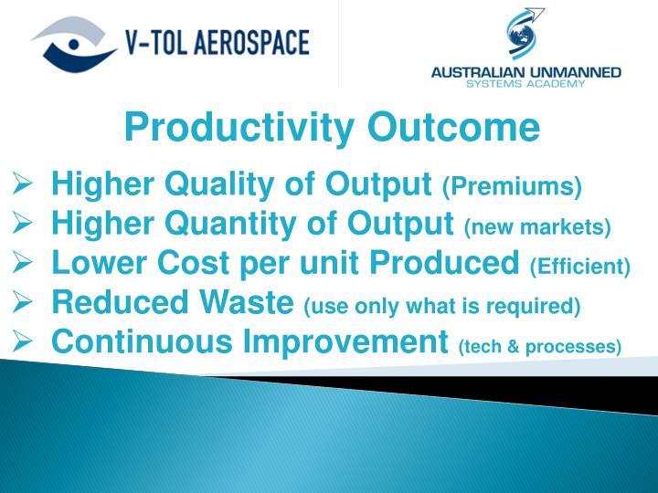 Productivity Outcome