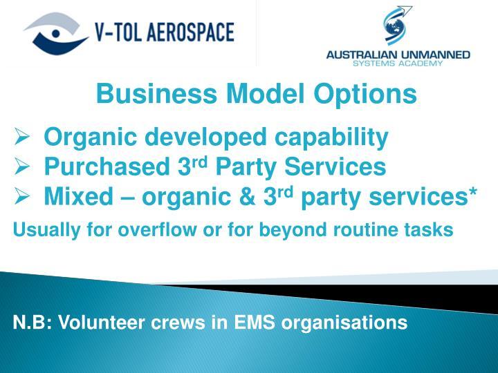Business Model Options