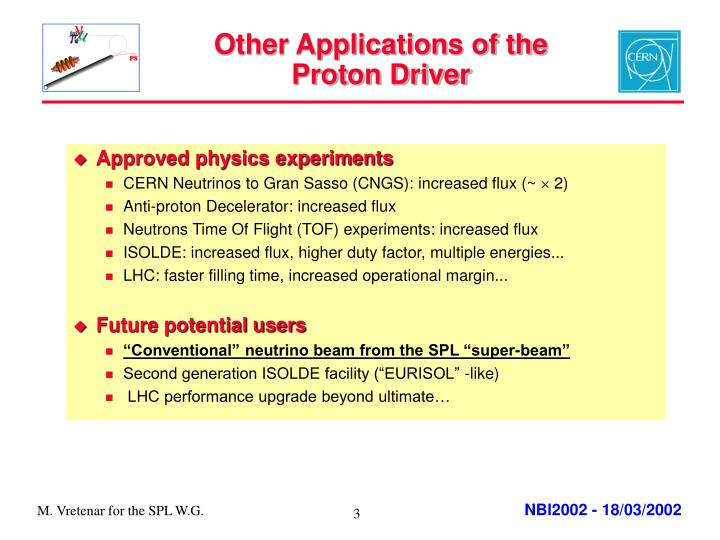 Other applications of the proton driver